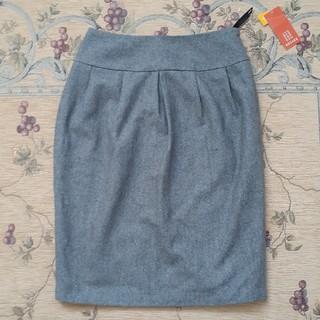 シンプルなグレーのスカート(ひざ丈スカート)