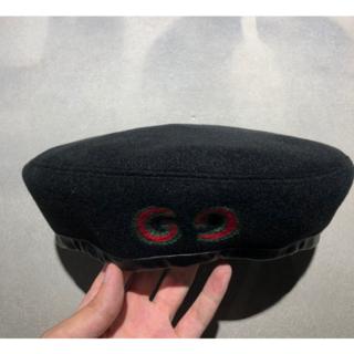 グッチ(Gucci)のGUCCI★GGパッチハットブラック(ハンチング/ベレー帽)