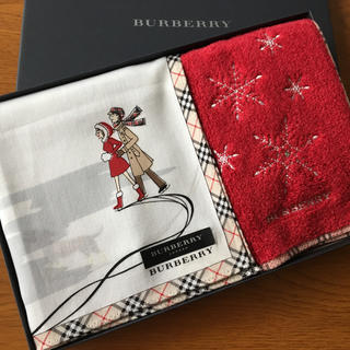 BURBERRY - バーバリー  ハンカチギフトBOX  2枚入 シール付 新品