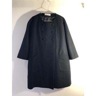 l'atelier du savon - 【美品】l'atelier du savon  ダブルボタン コート ブラック