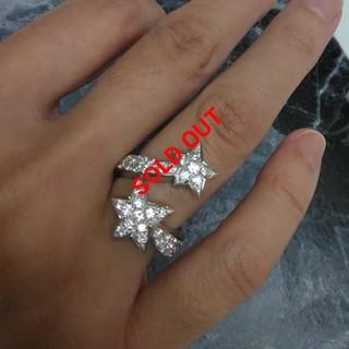 シャネル(CHANEL)の天然ダイヤモンドリング/ダブルコメットモチーフ/7号(リング(指輪))