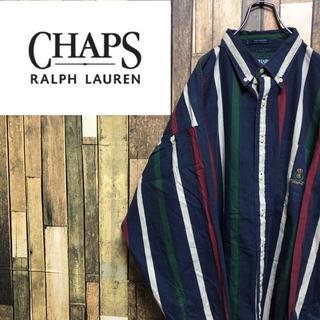 Ralph Lauren - 【激レア】チャップスラルフローレン☆刺繍ロゴスーパビッグマルチストライプシャツ