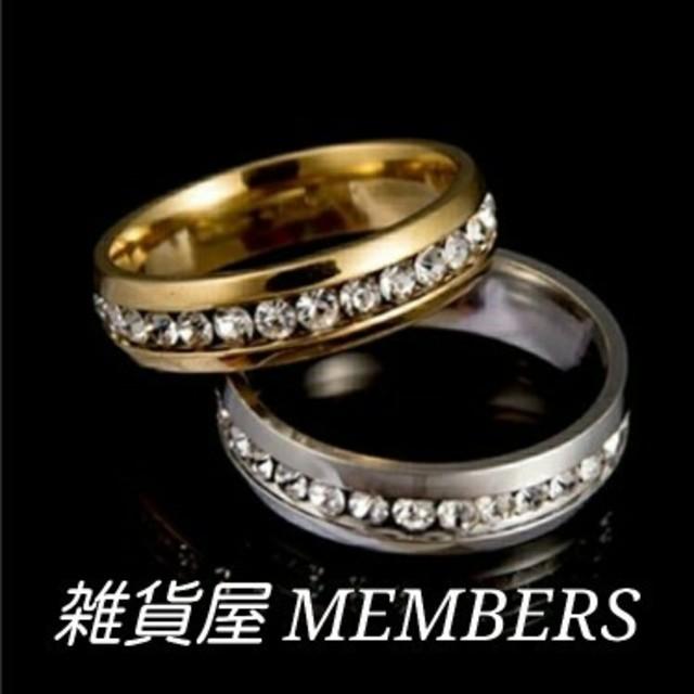 送料無料30号クロムシルバースーパーCZダイヤステンレスフルエタニティリング指輪 メンズのアクセサリー(リング(指輪))の商品写真