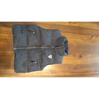ボンポワン(Bonpoint)のボンポワン ダウンベスト リバーシブル 6A 100〜110相当 グレー✕黒(ジャケット/上着)