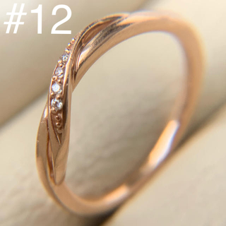 4℃ - k10  シンプル ダイヤモンド 4°C ピンクゴールド リング