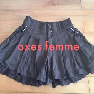 アクシーズファム(axes femme)のaxes femme 【M】キュロットスカート(キュロット)