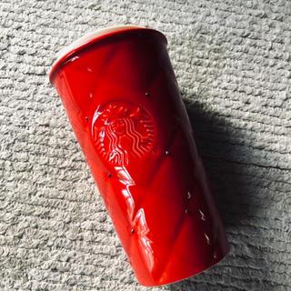 Starbucks Coffee - スターバックス 2016ホリデー限定 スワロフスキー キルトダブルウォールマグ