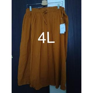 スカート  4L  大きいサイズ  (ひざ丈スカート)