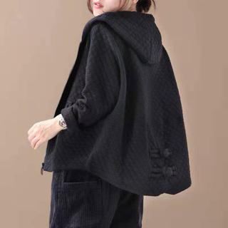 LACA025秋冬レディース 裏起毛厚手 綿 ショット コート(3色L-XL)(チェスターコート)