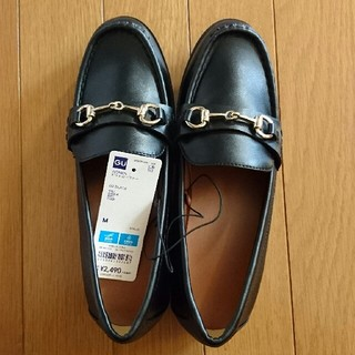 ジーユー(GU)の新品 GU ビットローファー  マニッシュ 黒 M 24(ローファー/革靴)