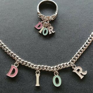 Christian Dior - 激レア♥️Dior ネックレス&リング セット ディオール 指輪 マルチカラー