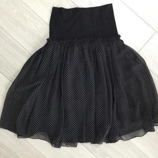 スコットクラブ(SCOT CLUB)のネイビードットフレアスカート☆美品☆(ひざ丈スカート)
