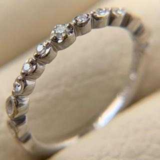 ヨンドシー(4℃)の4°Ck10 WGピンキーリング pt900 ぶら下がりピアス(リング(指輪))