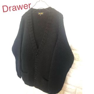Drawer - Drawer ドゥロワー  あぜ編みざっくりローゲージニットオーバーニット