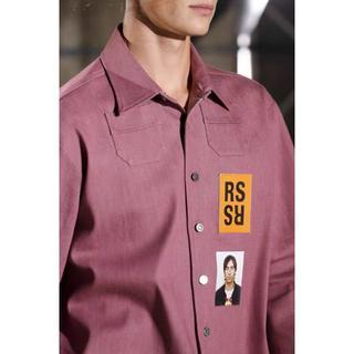 RAF SIMONS デニムジャケット  シャツ s ピンク(Gジャン/デニムジャケット)