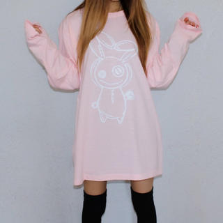 NieR ハートロンティー ピンク(Tシャツ(長袖/七分))