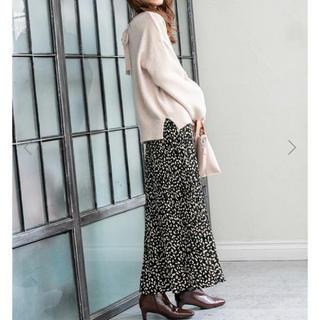 fifth - fifth .新品タグ付、レオパードプリーツスカート、ブラック