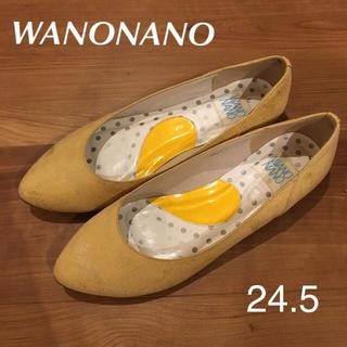 ワノナノ(WANONANO)のワノナノ WANONANO 卑弥呼 フラットシューズ 黄色 パンプス(バレエシューズ)