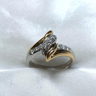 ポーラ(POLA)のポーラ pt/k18  ダイヤモンド リング(リング(指輪))
