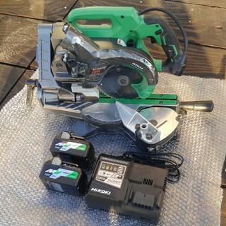 日立 - 【日立工機】C 3606DRA 36V充電式スライド丸のこ&新品バッテリー2個