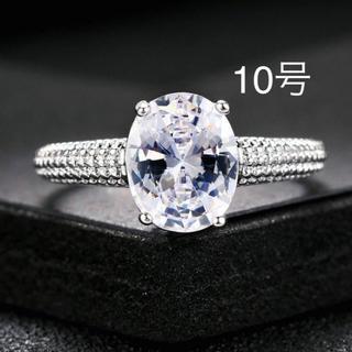 シンプルCZダイヤモンドリング シルバーアクセサリー 指輪(リング(指輪))