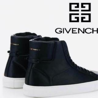 ジバンシィ(GIVENCHY)のGIVENCHY ジバンシー ハイトップ スニーカー  27 黒白 靴(スニーカー)