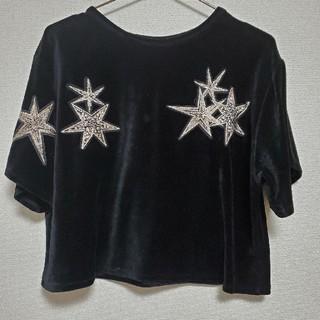 ZARA - ZARA 星ベロアトップス