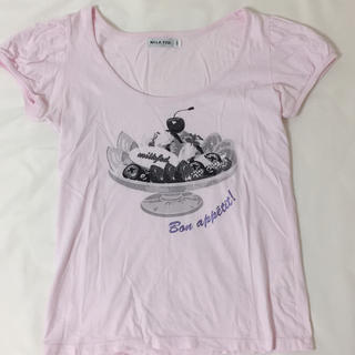 ミルクフェド(MILKFED.)のMILKFED パフェ柄カットソー(Tシャツ(半袖/袖なし))