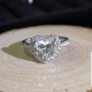 GIA♡2.01ctハートダイヤモンドリング(リング(指輪))
