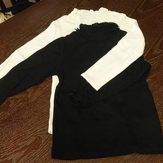 サンカンシオン(3can4on)のガールズ♡ハイネック♡白&黒2枚♡110(Tシャツ/カットソー)