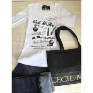 セシルマクビー(CECIL McBEE)のセシルロゴ&コスメ Tシャツ(Tシャツ(長袖/七分))