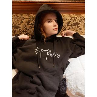 eimy istoire - ♡ epine ♡ フード付きパーカー black エピヌ