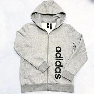 adidas - adidas アディダス ロゴパーカー 裏起毛 160 美品