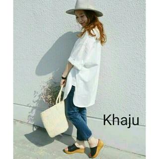 Khaju - 新品同様★『Khaju』日本製◆ロングTシャツ◆定価¥6480
