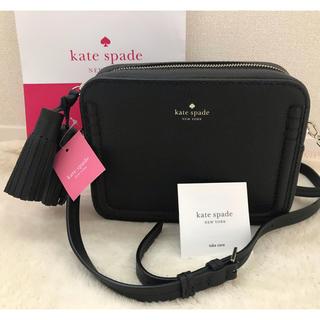 kate spade new york - 新作 ケイトスペード ショルダーバッグ タッセル ブラック 黒 カメラ バッグ