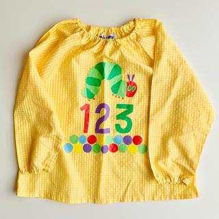 西松屋 - はらぺこあおむし スモック キッズ 110 幼稚園 保育園 男の子 女の子