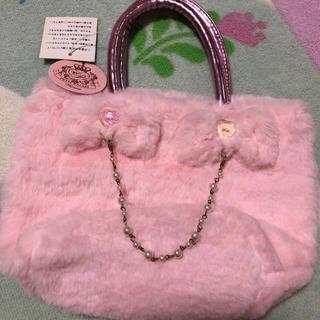 マザウェイズ(motherways)のラスト1点 マザウェイズ ファーバッグ ピンク 女の子 バッグ ピンク (トートバッグ)