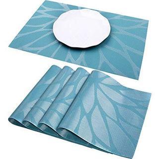 プレースマット LACOOKランチョンマット テーブルマット 4枚セット ブルー
