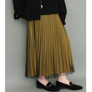 KBF - KBF  チュールプリーツロングスカート