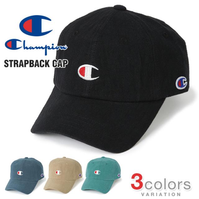 Champion(チャンピオン)のChampion チャンピオン キャップ 黒 新品未使用タグ付  ローキャップ メンズの帽子(キャップ)の商品写真