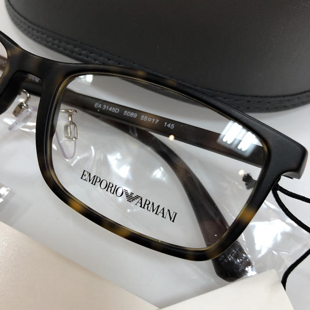 Emporio Armani(エンポリオアルマーニ)の定価27,500円 エンポリオアルマーニ EA3145D 5089 メガネ 眼鏡 メンズのファッション小物(サングラス/メガネ)の商品写真