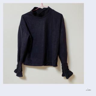 クリア(clear)のclear ハイネック トップス カットソー ブラック(カットソー(長袖/七分))