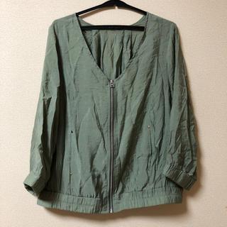 ディスコート(Discoat)のDiscoat 薄手半端袖ジャンパー(ノーカラージャケット)