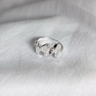 ルシェルブルー(LE CIEL BLEU)のWave silver ring No.199(リング(指輪))
