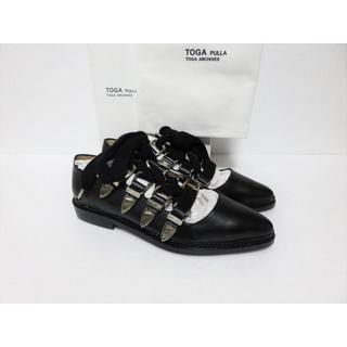 トーガ(TOGA)の定価7万 新品 TOGA PULLA Gillie shoes 37 ブラック (バレエシューズ)