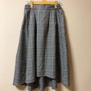 オリーブデオリーブ(OLIVEdesOLIVE)の OLIVE des OLIVE 後ろ長めチェックスカート(ひざ丈スカート)