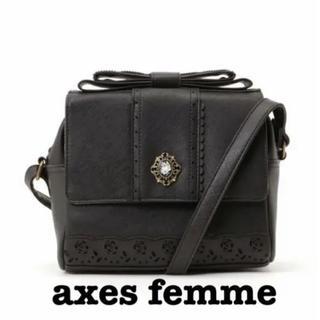 アクシーズファム(axes femme)のaxes femme ショルダーバッグ ブラック(ショルダーバッグ)