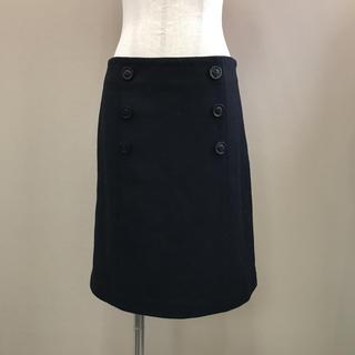 ICB - 新品タグ付 iCB フロントボタンウールスカート 9 ブラック