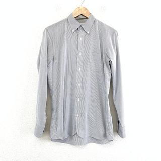 美品 マッキントッシュフィロソフィー メンズ ストライプ トロッターシャツ L
