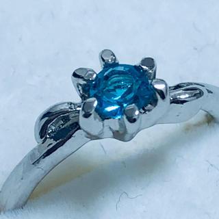 K18WG 青石の指輪(リング(指輪))